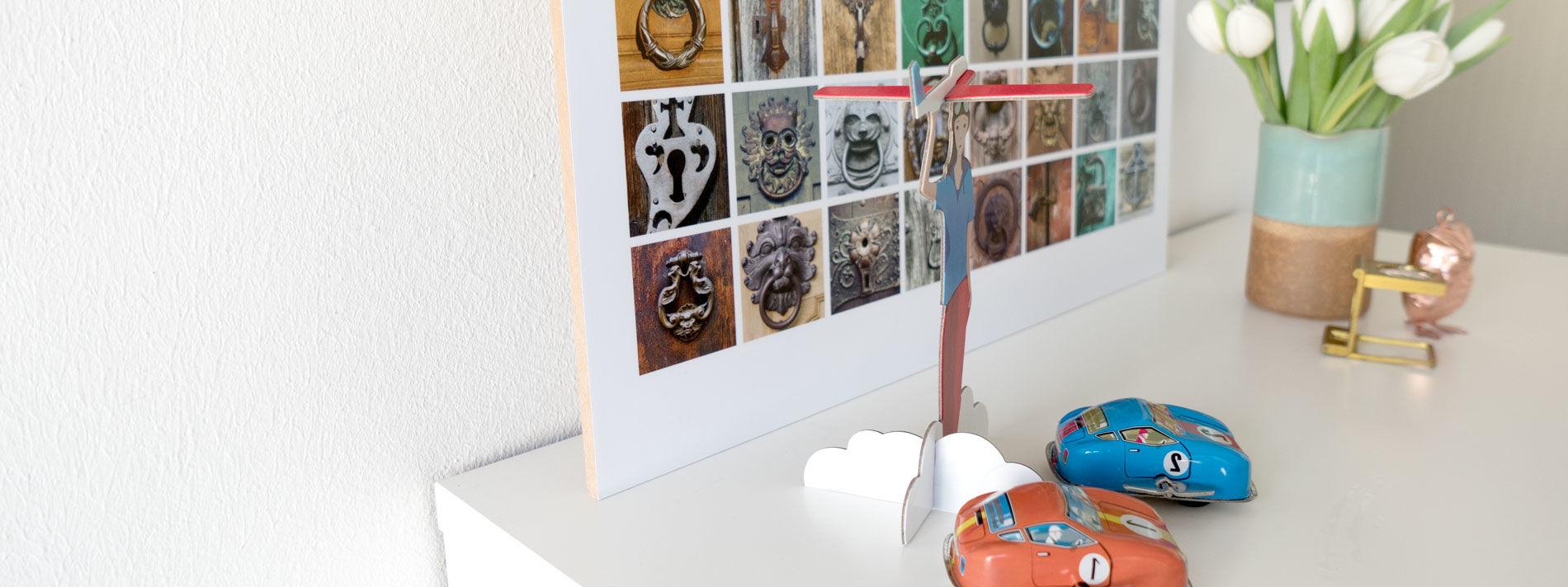 Collage auf Holz